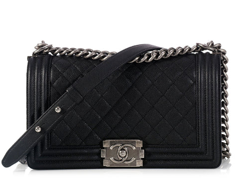 Chanel Old Medium Black Boy