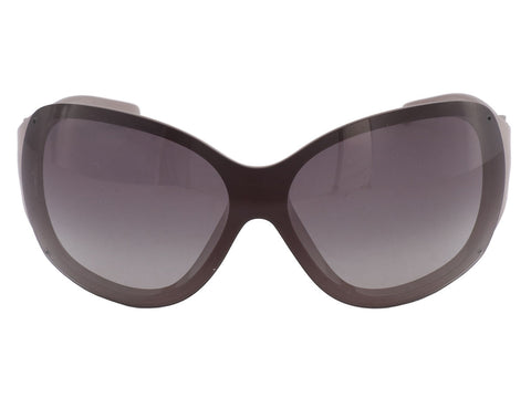 Chanel Gray Camellia Shield Sunglasses