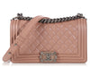 Chanel Old Medium Light Metallic Pink Boy