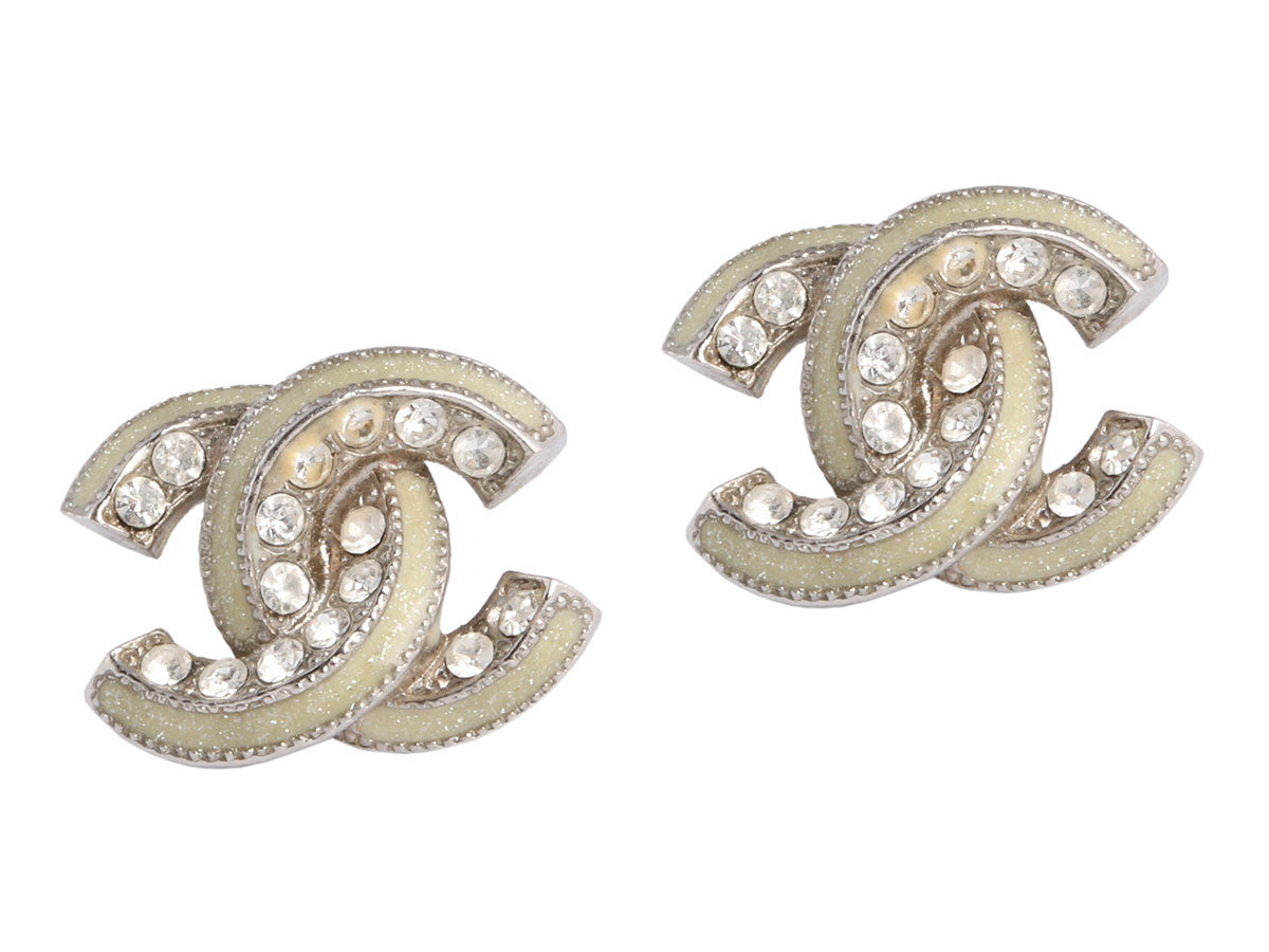 Chanel Mini Logo Earrings
