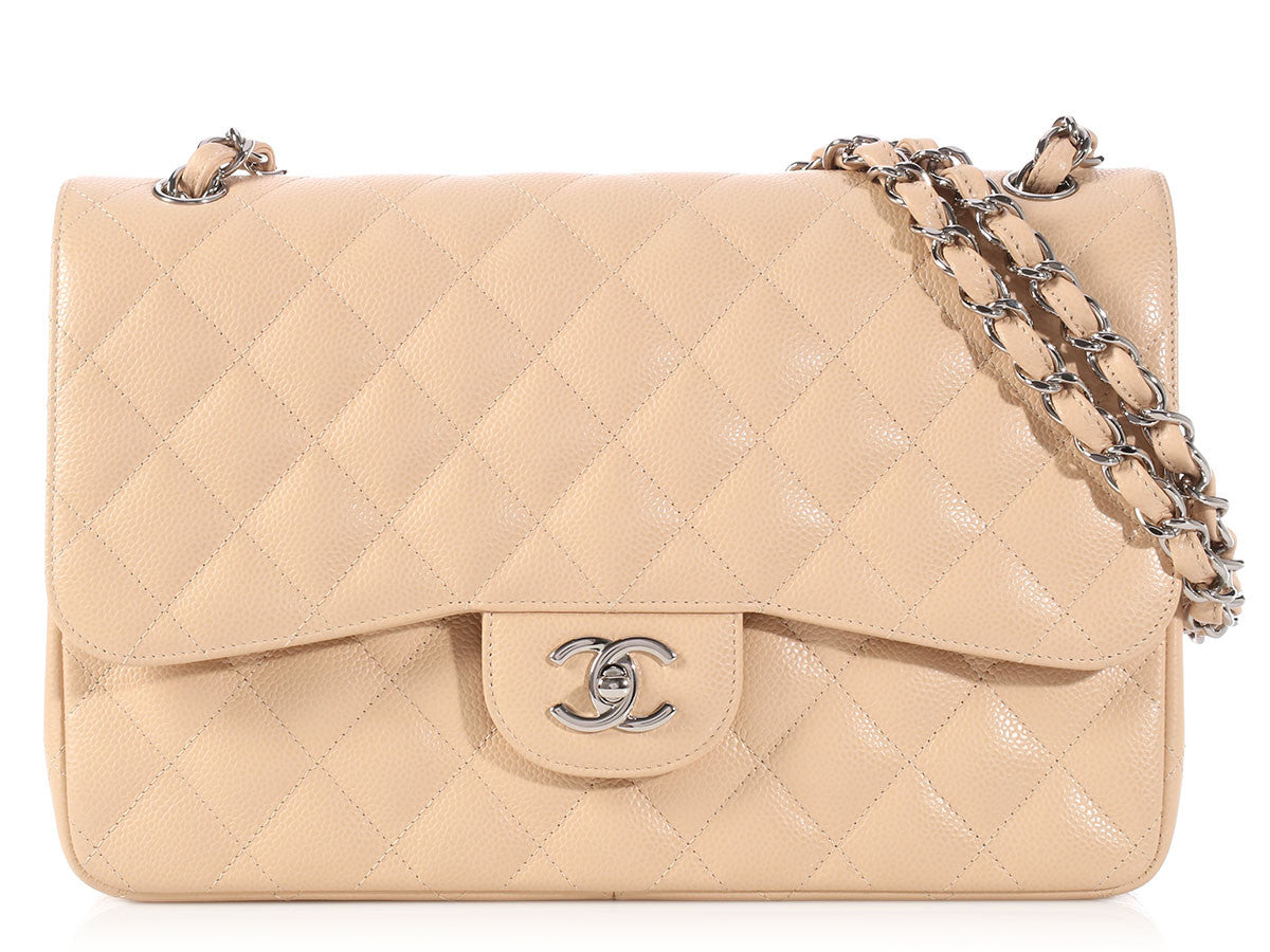Chanel Jumbo Beige Clair Classic Double Flap