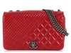 Chanel Medium Red Coco Boy Flap