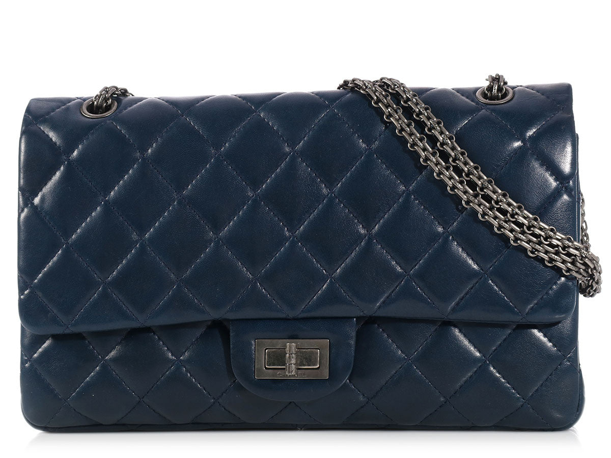 Chanel Navy Reissue 227 Double Flap