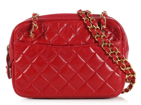 Chanel Small Red Camera Bag