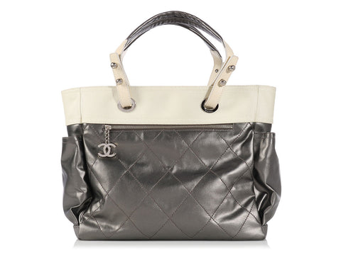 Chanel Two Tone Paris-Biarritz Tote
