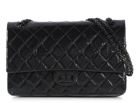 Chanel So Black Patent Reissue 226 Double Flap