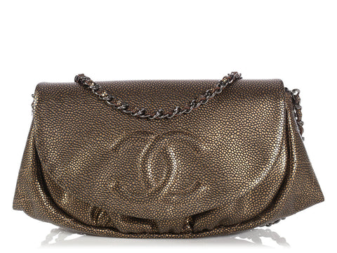 Chanel Bronze Half Moon Wallet on a Chain WOC