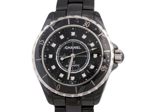 Chanel Black Diamond J12 Watch