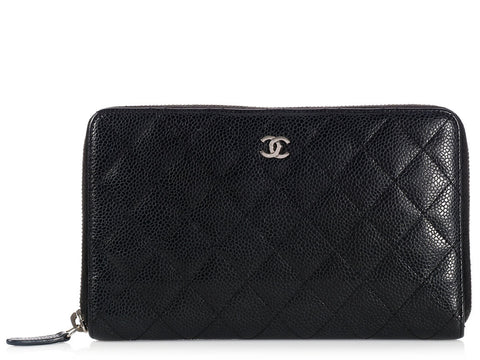 Chanel Black Travel Wallet