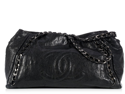 Chanel Black Modern Chain Tote