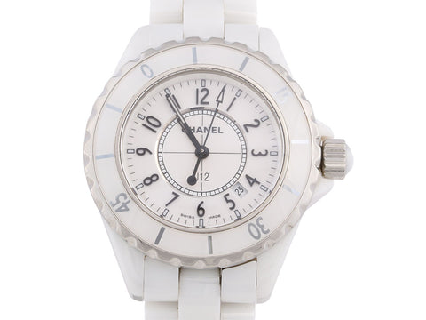 Chanel White Ceramic J12 Watch