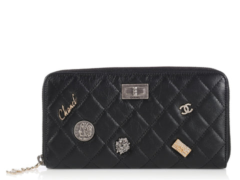 Chanel Black Charms Wallet