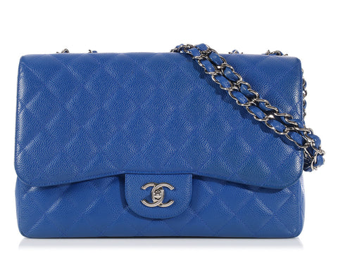 Chanel Bleu Roi Jumbo Classic Single Flap