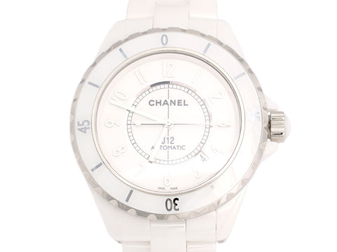 Chanel White Ceramic J12 Watch 42