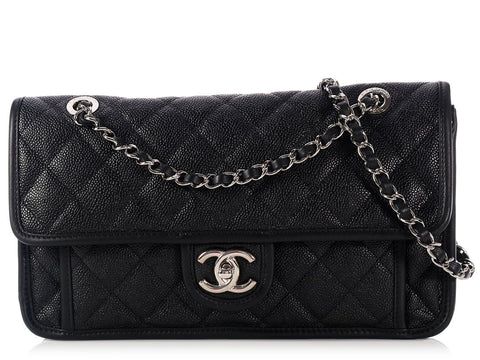 Chanel Black Caviar Single Flap