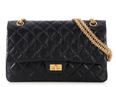 Chanel Black Reissue 226 Double Flap