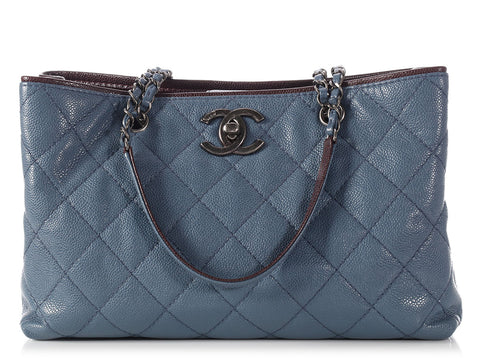 Chanel Blue Caviar Grand Shopping Tote GST