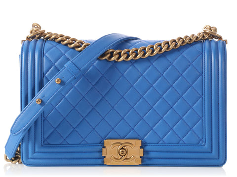 Chanel New Medium Cobalt Blue Boy Flap