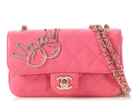 Chanel Pink Extra Mini Classic V