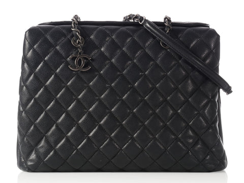 Chanel Black City Shopping Tote