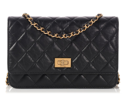Chanel Black Reissue Wallet on a Chain WOC