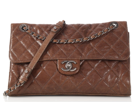 Chanel Medium Brown Leather Flap