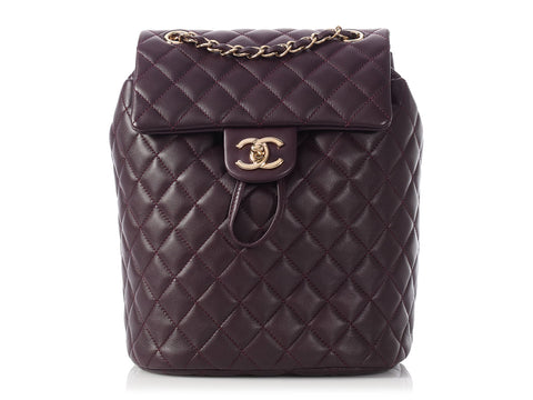 Chanel Small Dark Purple Urban Spirit Backpack