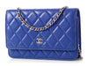 Chanel Royal Blue Quilted Wallet on a Chain WOC