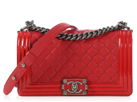 Chanel Old Medium Red Boy