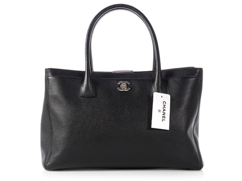 Chanel Black Caviar Cerf Executive Tote