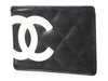 Chanel Black Quilted Cambon Card Holder