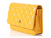 Chanel Yellow Wallet on a Chain WOC