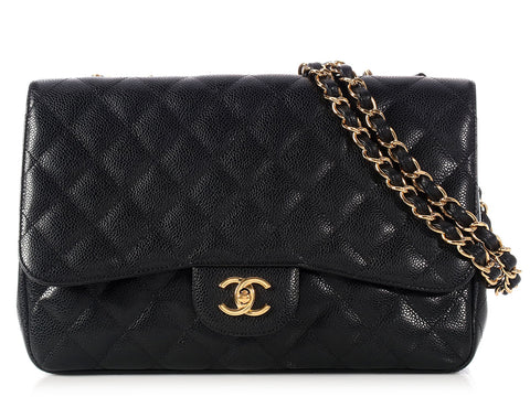 Chanel Jumbo Black Classic Single Flap