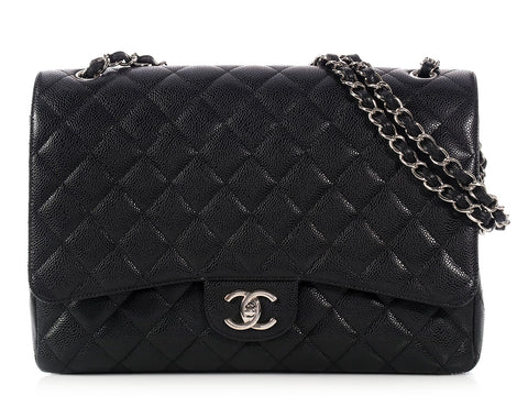 Chanel Maxi Black Classic Double Flap