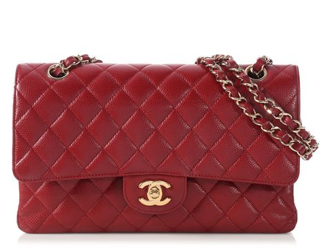 Chanel Medium/Large Dark Red Classic Double Flap