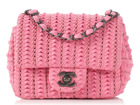 Chanel Mini Dark Pink Square Classic