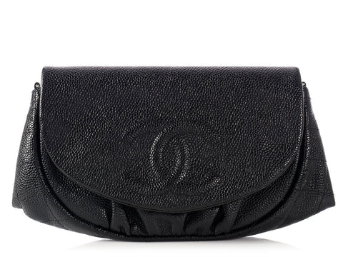 Chanel Black Half Moon Wallet on a Chain WOC