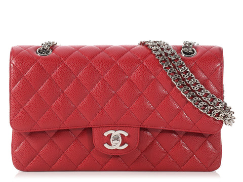 Chanel Medium/Large Red Bijoux Chain Classic Double Flap