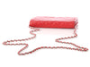 Chanel Red Lambskin Wallet on a Chain WOC