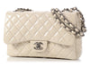 Chanel Jumbo Stone Patent Classic Single Flap