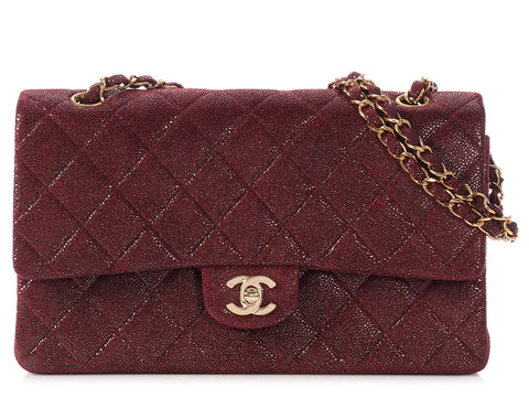 Chanel Burgundy Double Flap Bag