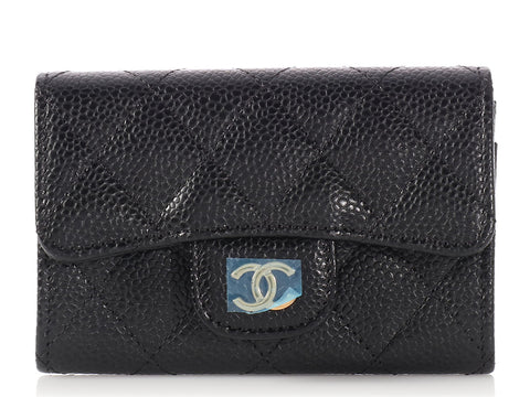 Chanel Black Caviar Classic Flap Card Holder