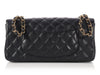 Chanel Black Caviar East West Flap Bag