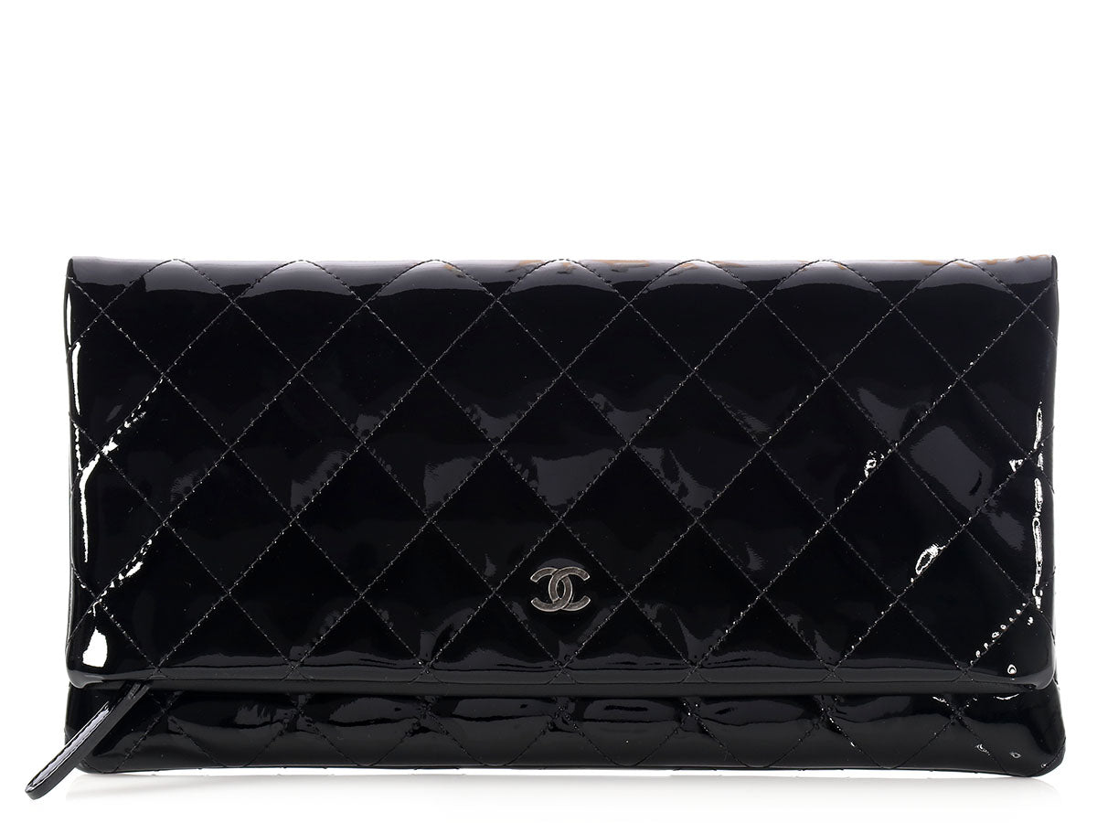 Chanel Black Beauty Patent Clutch