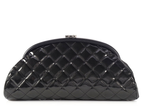 Chanel Black Patent Timeless Clutch