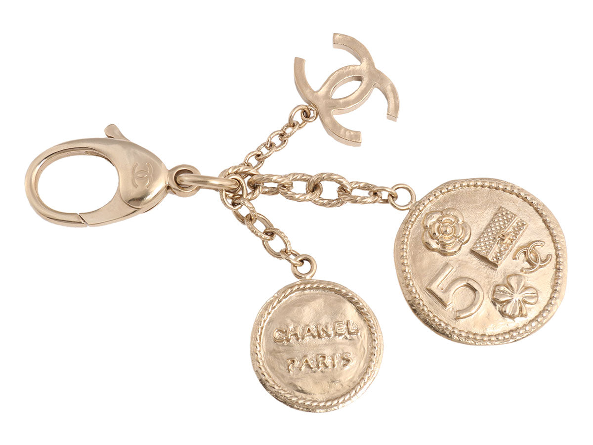 Chanel Gold Coin Bag Charm