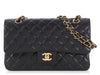 Chanel Medium Black Quilted Caviar Classic Double Flap