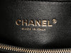Chanel Small Black Quilted Caviar and Burgundy Lizard Coco Handle Bag