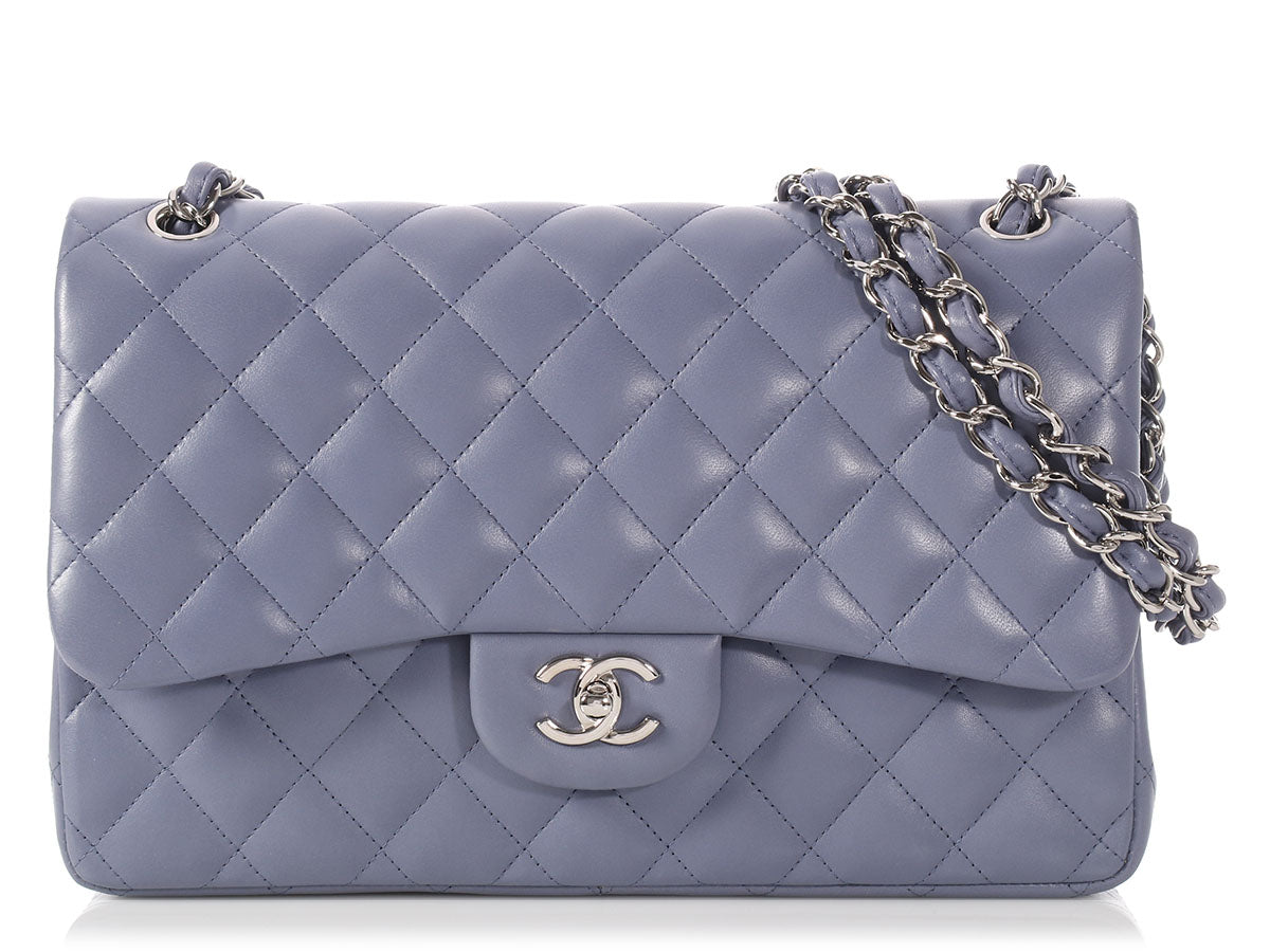 7c9cefe57006 Shoptagr | Chanel Jumbo Lavender Quilted Lambskin Classic Double Flap by  Chanel