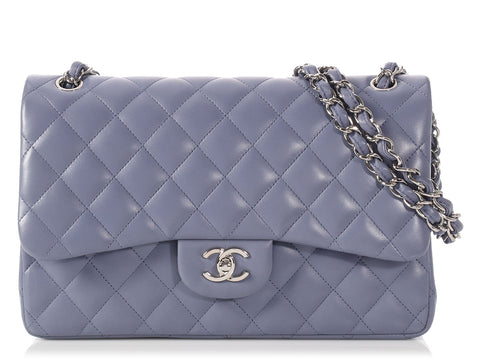 Chanel Jumbo Lavender Quilted Lambskin Classic Double Flap